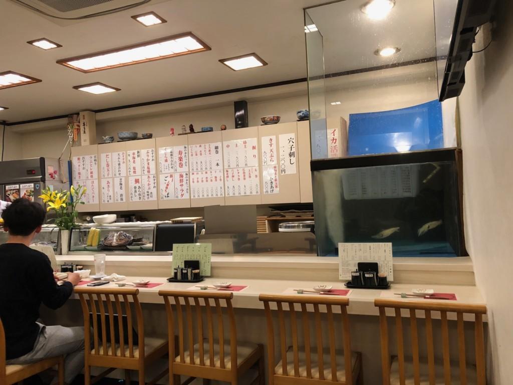 福岡グルメ情報 大濠公園近くの寿司処!刺し盛り・イカの活け造りも味わえる「寿楽」