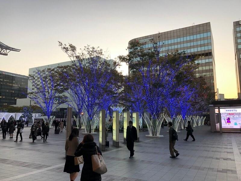 福岡クリスマスマーケット2020(博多)のイルミネーション