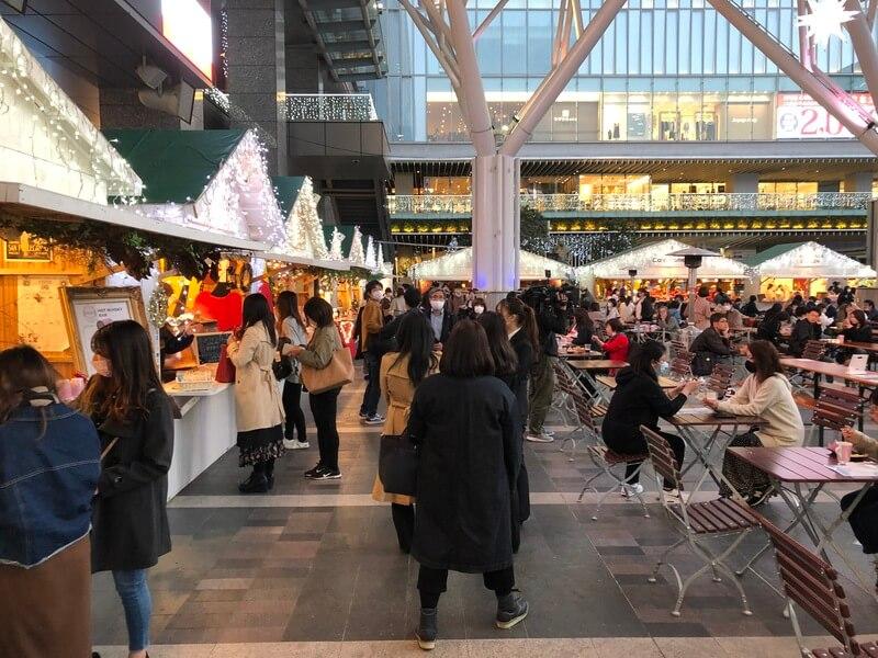 福岡クリスマスマーケット2020(博多)のヒュッテ