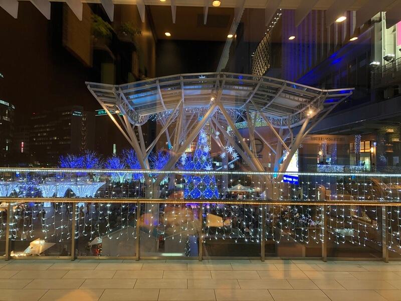 丸の内 CAFE会からの博多駅クリスマスイルミネーション