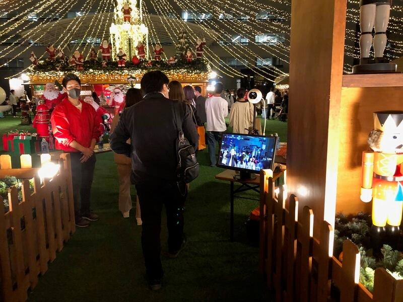 福岡クリスマスマーケット2020(天神)のコロナ対策 検温