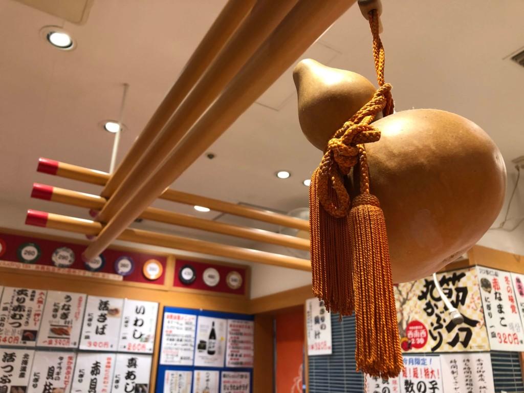 福岡・天神のひょうたんの回転寿司のひょうたん