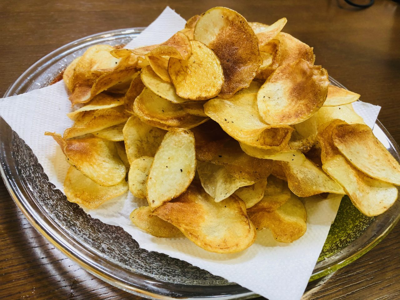 【子供のおやつにぴったり!】無添加・無化学調味料ポテトチップス・さつまいもチップスの作り方