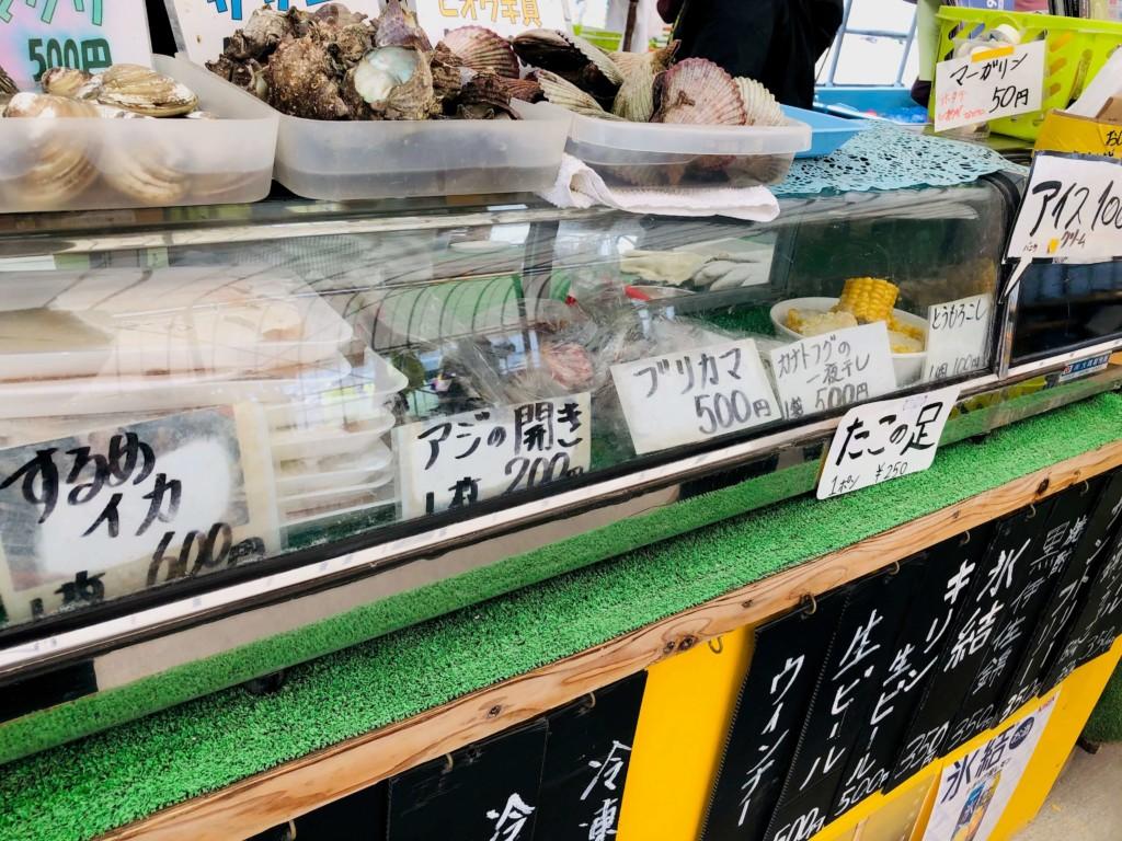 福吉漁港の牡蠣小屋「カキの阿部 飛龍丸」の海鮮
