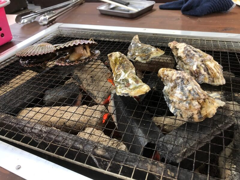 牡蠣小屋のカキ
