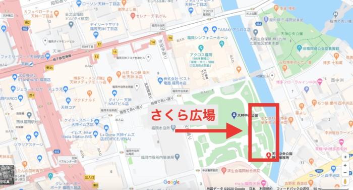 天神中央公園のさくら広場
