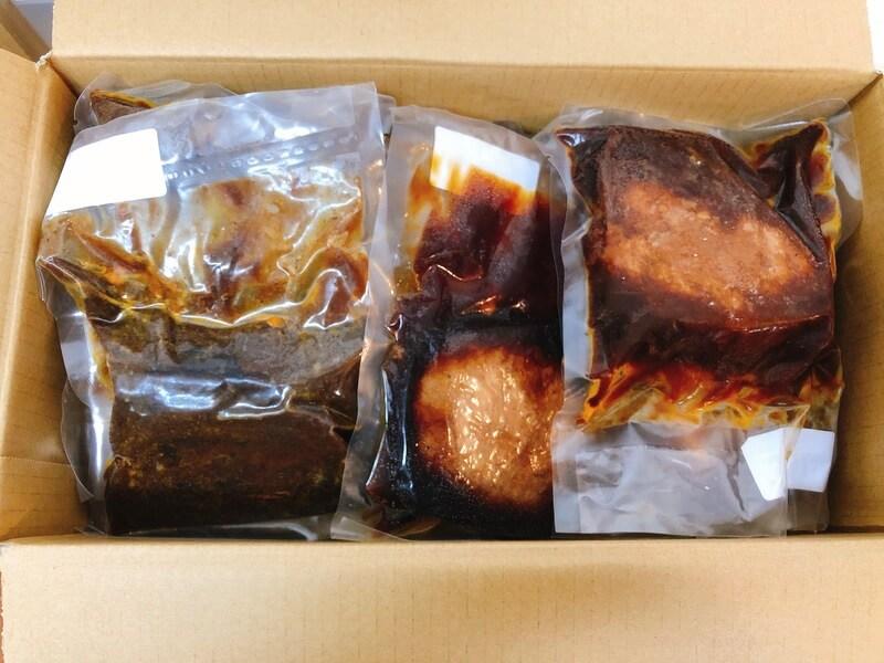 ビストロタケノヤのハンバーグ5個&牛ほほ肉赤ワイン煮込み2個