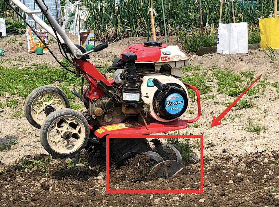 ヤンマーのミニ耕運機MT302
