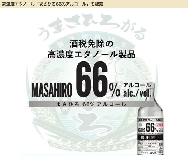 まさひろ66%アルコール