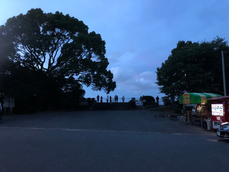 油山片江展望台 駐車場