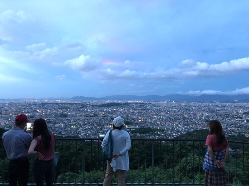 油山片江展望台 福岡市の景色