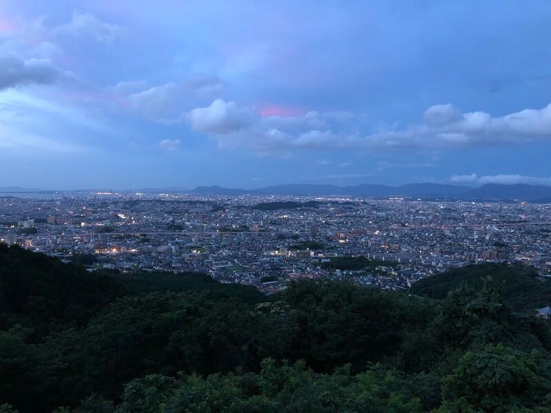 油山片江展望台 福岡市の夜景