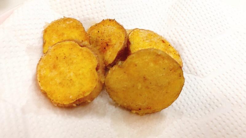 小ぶりなサツマイモ(安納芋)の天ぷら