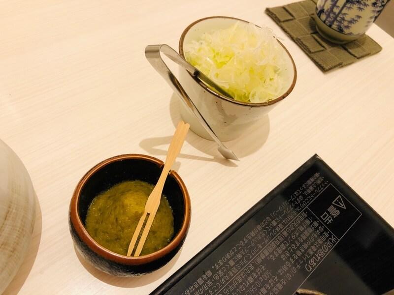 黒豚あじと 福岡赤坂店 しゃぶしゃぶ さらしねぎ 柚子ごしょう