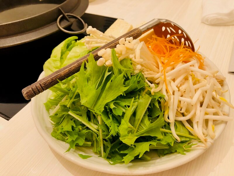黒豚あじと 福岡赤坂店 しゃぶしゃぶ 野菜