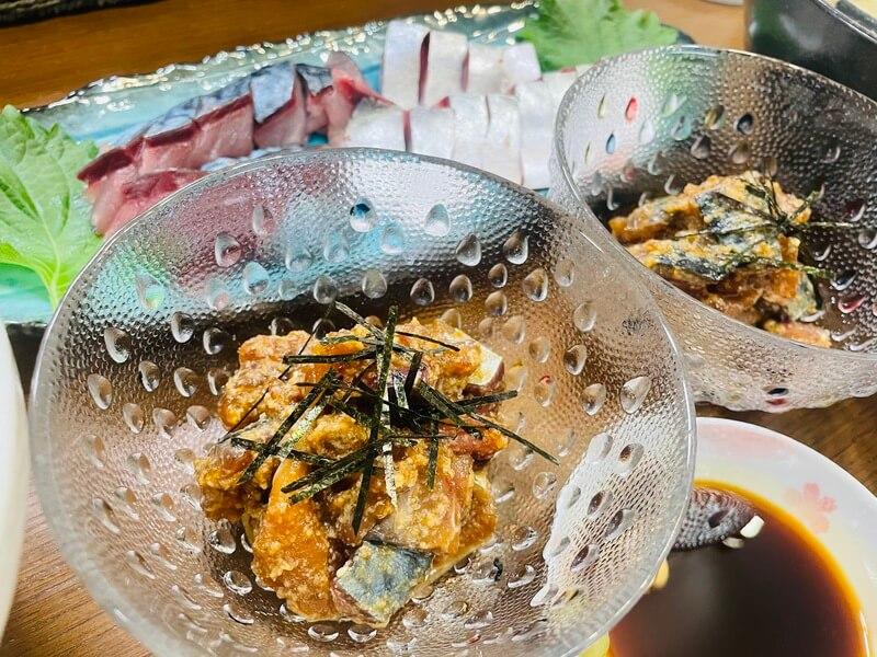 鯖の刺身定食とゴマサバ