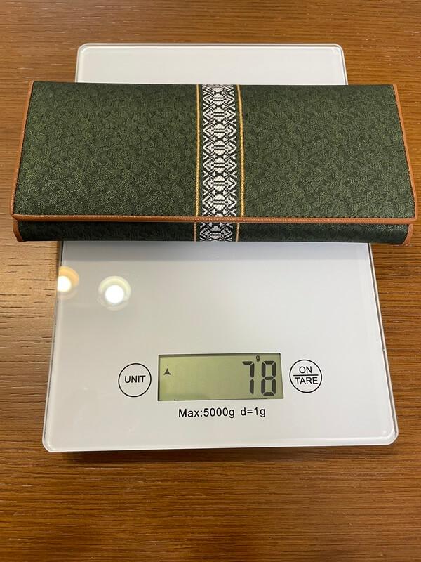 サヌイ織物の長財布 重量
