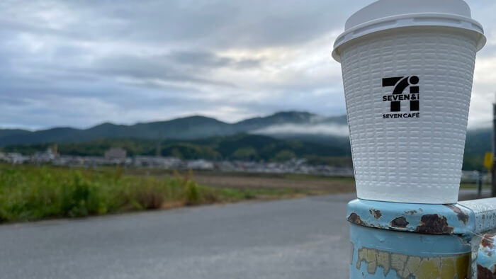 貸し農園でのセブンコーヒー