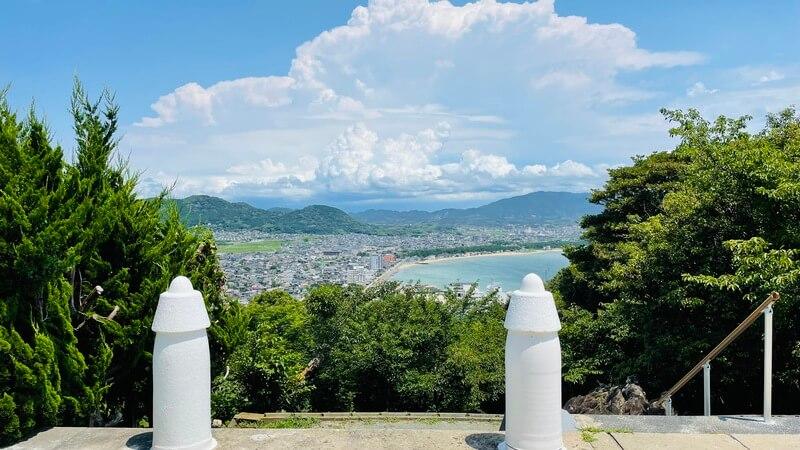 大峰山自然公園(日本海海戦紀念碑)の山側の景色