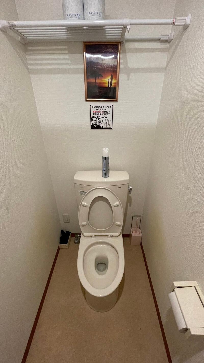 タケノコテント 共用のトイレ