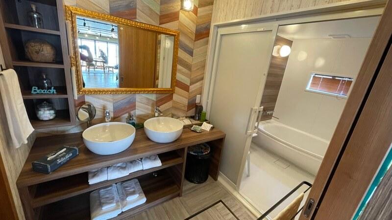 ぶどうの樹 グランピング福岡 モアナの洗面室
