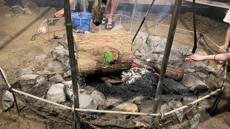 福津 ぶどうの樹 グランピング 焚き火